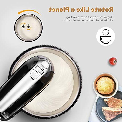 Stand 2 in Hand with Stainless Steel Mixer with Sturdy and Dough 3.5L, 250Watt,