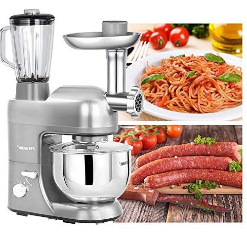 CHEFTRONIC Mixers Kitchen Mixer for 120V/650W Stainless Handle Bowl