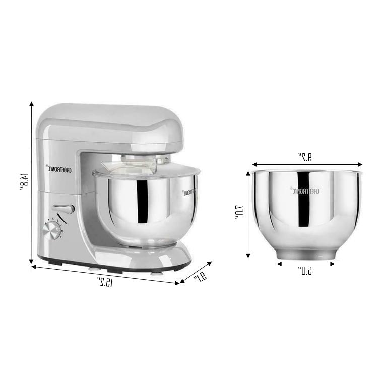 CHEFTRONIC Tilt-Head Multi-functional Kitchen Standing Mixer