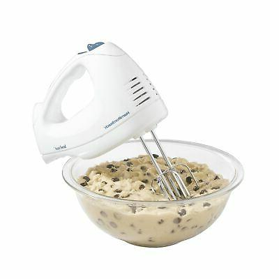 Hamilton Beach White 6 Speed Hand Mixer with Snap-On Case Wh