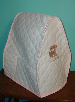 KitchenAid Mixer Appliance Cover~ White Quilted~Pink Mixer E