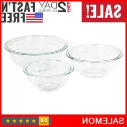 Mixing Bowl Pyrex Glass Nesting Quart Clear Bowls Dry Liquid