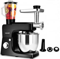 Multifunctional Stand Mixer Blender Meat Grinder with 7qt Bo