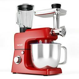 New 3 in1 Kitchen Food Mixer Machine 6 Speed 7QT Tilt Head D