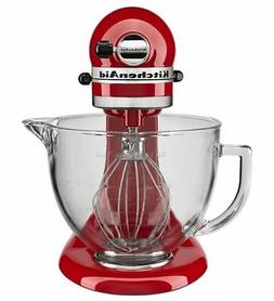 NEW KitchenAid® 5-Quart Tilt-Head Stand Mixer, Glass Bowl &