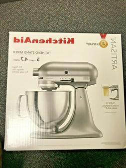 NEW! KitchenAid Artisan Stand Mixer- Silver, New in Box