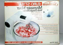 New Sunbeam Mixmaster Mixer White Euro-Style 01401 Vintage W