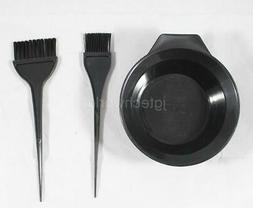 New Women Man Hair Color Bleach Dye Brush Mixing Bowl Combo