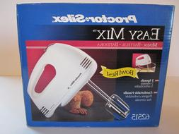 NIB Proctor Silex Easy Mix Bowl Rest Hand Mixer 62515 White