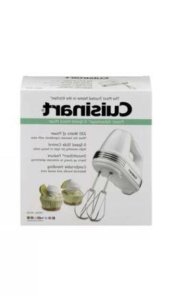 Cuisinart Power Advantage 220W 5-Speed Hand Mixer in White