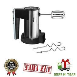 Premium Electric Hand Cake Mixer Handheld Whisk Egg Beater w