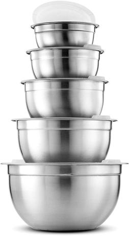 Premium Stainless Steel Mixing Bowls With Airtight Lids Vari