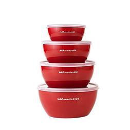 KitchenAid Prep Bowl Sets Bowls with Lids, Set Red