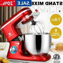 Pro Electric Food Stand Mixer 7-QT Tilt-Head 6-Speed Kitchen