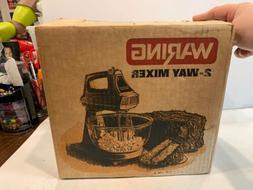 RARE NEW IN BOX WARING 2-WAY MIXER STAND & HAND ROTATING BOW