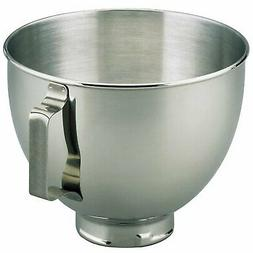 KitchenAid Refurbished K45SBWH 4.5 Qt SS Mixer Bowl with Han