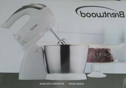 Brentwood SM-1152 5-Speed Stand Mixer with Bowl, White - NEW