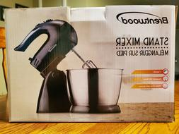 Brentwood Appliances SM-1153 5 Speed Turbo Stand Mixer Black