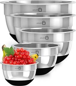 Stainless Steel Mixing Bowls Set With Non Slip Bottom . Size