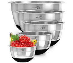 Stainless Steel Mixing Bowls With Non Slip Bottom . Sizes- 8