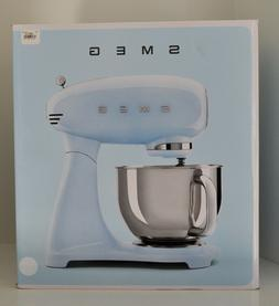 Smeg Stand Mixer 5 Quart Stainless Bowl White