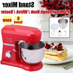 Stand Mixer 6 Speeds Household Mixer Kitchen Accessories w/