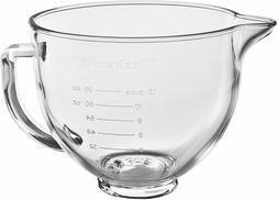 NEW KitchenAid 5 qt. Tilt-Head Glass Bowl with Lid for Stand