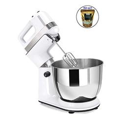 250W 5 Speed Stand Mixer Dough Hooks Beaters and Stainless S