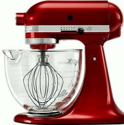 KitchenAid Stand Mixer W/Glass Bowl Delux Artisan Tilt Gloss
