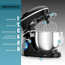 Tilt-head Food Stand Mixer 6.3 qt 6 Spd Stainless Steel Doug