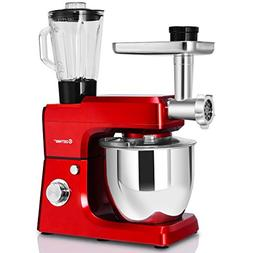 Costway 3 In 1 Tilt-Head Stand Mixer 800W Upgraded Multifunc