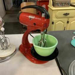 Vintage Sunbeam Kitchen Mixer Red With Jadeite