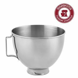 Whirlpool KitchenAid Polished Stainless Steel 4.5 Quart Bowl