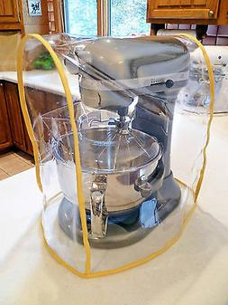 Yellow Trimmed CLEAR MIXER COVER fits KitchenAid Bowl Lift M